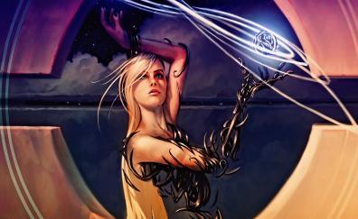 Magic the gathering blonde woman