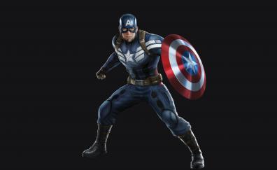 Captain America, superhero, marvel comics, minimal