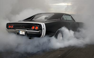 Dodge charger rt muscle car rear smoke