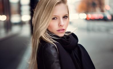 Brown eyes beautiful model
