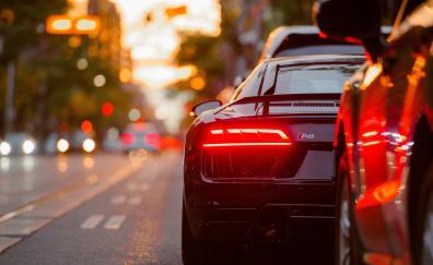 Audi r8 tail light street