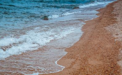 Sea waves beach sand