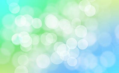 Gradient, bokeh, abstract, blue green