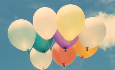 Balloons colorful sky 4k