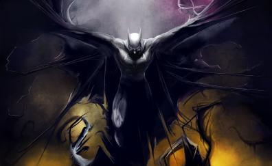 Batman, dark, superhero, artwork, DC comics