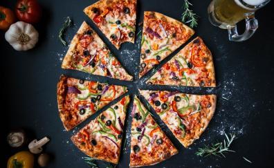 Pizza slices food