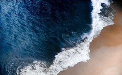 Bali beach sea waves
