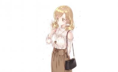 Blonde beautiful mami tomoe