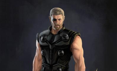 Thor avengers infinity war artwork