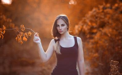 Beautiful woman outdoor sunlight