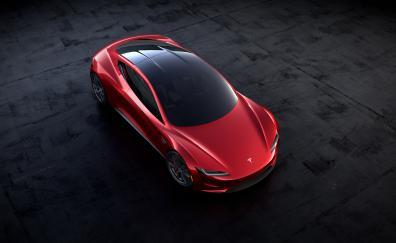 Tesla roadster 2018 top iew