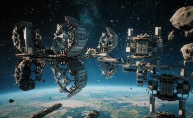 Space video game space station