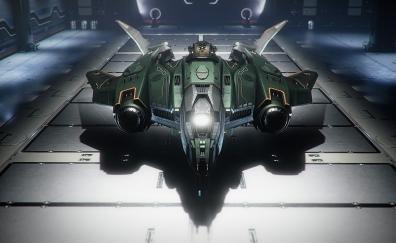 Spaceship, star citizen, video game