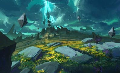 Fantasy, landscape, art