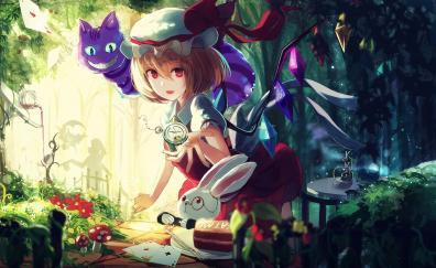Flandre Scarlet, Touhou, outdoor, anime girl