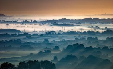 Horizon aerial view nature hoirzon