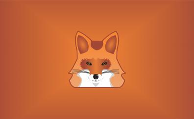 Orange fox muzzle minimal