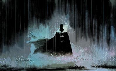 Batman art rain dark