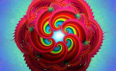 Fractals radial 4k