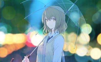 Anime girl portrait umbrella
