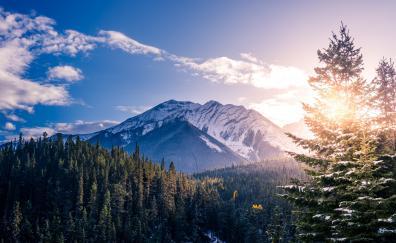 Banff canada mountains sunlight
