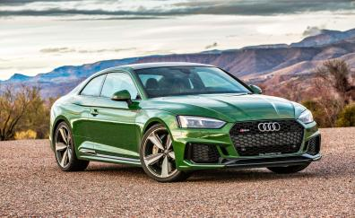 Audi rs5 green luxurious car