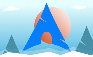 Arch linux logo 4k
