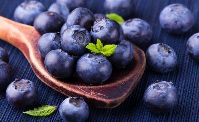 Blue berries wooden spoon 5k