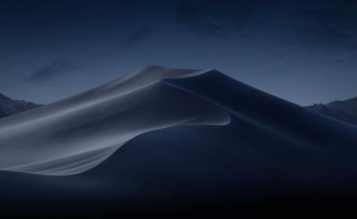 Desert at night sand nature