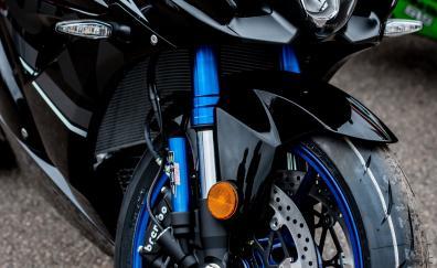Suzuki gsx r black bike