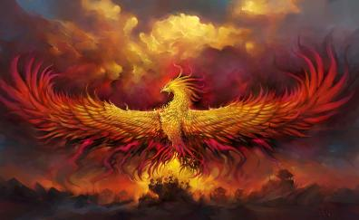 Phoenix fantasy bird