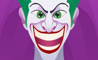 Joker smiling face artwork