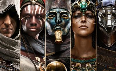 Assassin's creed: origins, collage, game