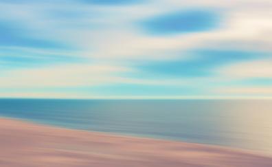 North sea, beach, blur