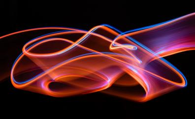 Glowing lines curves abstract
