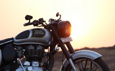 Royal enfield motorcycle 4k