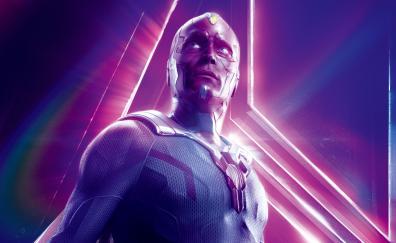 Vision in avengers infinity war 8k poster