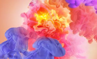 Colorful, smoke, abstract