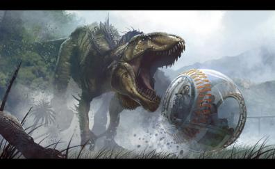 Run video game jurassic world evolution