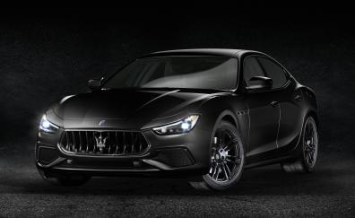 Maserati ghibli s q4 nerissimo geneva motor show 2018 4k