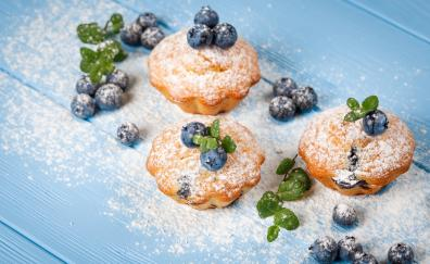 Pastry, food, dessert, blueberry