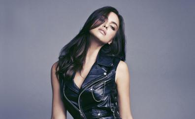 Leather jacket, celebrity, Irina Shayk