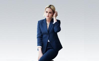 Kristen Stewart, beautiful, blonde, blue suit, celebrity