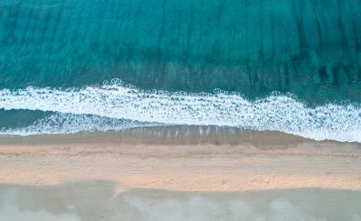Calm and relaxed, beach, sea waves