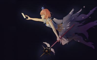 Beautiful, anime girl, flight, Sakura Kinomoto