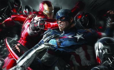Iron man and captain america movie artwork