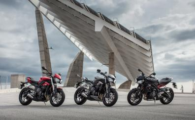 Motorcycles triumph street triple