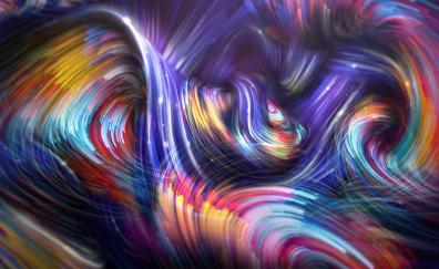 Colorful lines abstract glowing