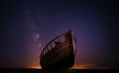 Boat night stars