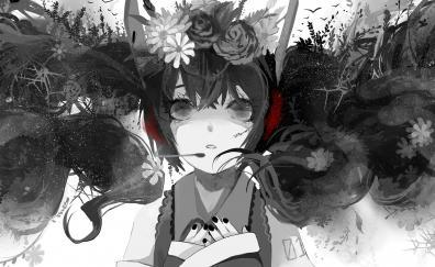 Black and white hatsune miku